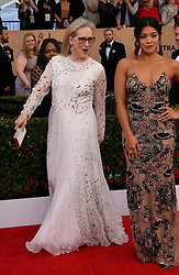 January 29, 2017 - Los Angeles, California, United States - Meryl Streep, and Gina Rodriguez on the red carpet at 23rd Annual Screen Actors Guild Awards  at The Shrine Expo Hall in Los Angeles on Sunday, January 29, 2017. (Credit Image: © John Mccoy/Los Angeles Daily News via ZUMA Wire)