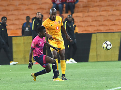 SOUTH AFRICA: JOHANNESBURG: Kaizer Chiefs player Willard Katsande battle for the ball with Black Leopards FC player Lesedi Kapinga during the ABSA premiership at the FNB stadium, Gauteng.<br /> Picture: Itumeleng English/African News Agency (ANA)