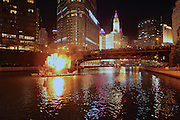 Great Chicago Fire Festival on Saturday, October 4, 2014. House located near Veteran's Memorial ignites.