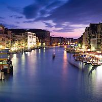 The Grand Canal in Venice from the Rialto Bridge