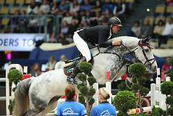 Thieme Andre, (GER), Conthendrix<br /> DKB-Riders Tour<br /> Grand Prix Kreditbank Jumping München 2015<br /> © Hippo Foto - Stefan Lafrentz