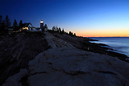 The Pemaquid Point Lighthouse, Holding Vigil Even As The Pre Dawn Light Opens Another New England Day