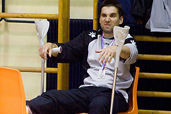 Head coach of RK Olimpija Robert Begus at last 10th Round handball match of Slovenian Women National Championships between RK Krim Mercator and RK Olimpija, on May 15, 2010, in Galjevica, Ljubljana, Slovenia. Olimpija defeated Krim 39-36, but Krim became Slovenian National Champion. (Photo by Vid Ponikvar / Sportida)
