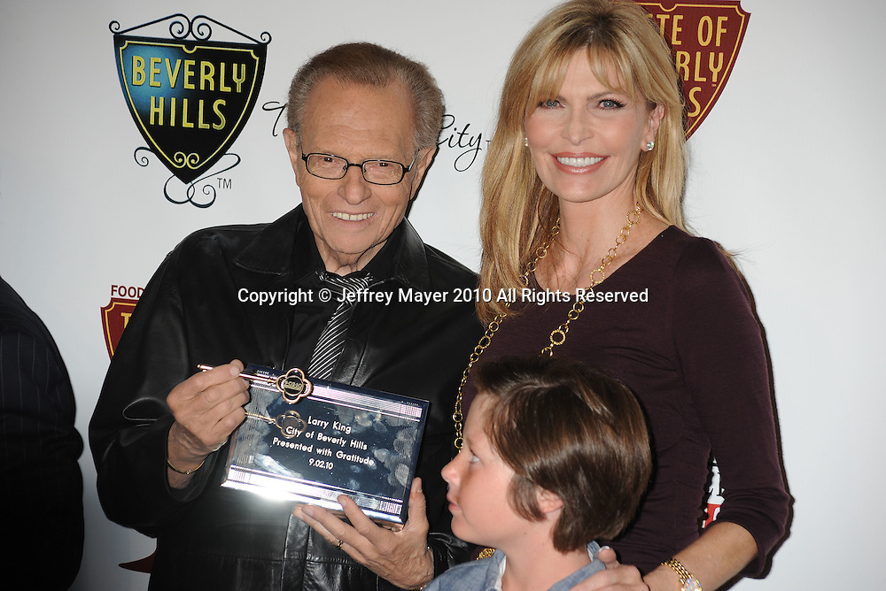 BEVERLY HILLS, CA. - September 02: Larry King, wife Shawn Southwick and son Chance Armstrong King arrives at The Taste of Beverly Hills wine & food festival opening night at the Beverly Hilton Hotel on September 2, 2010 in Beverly Hills, California.