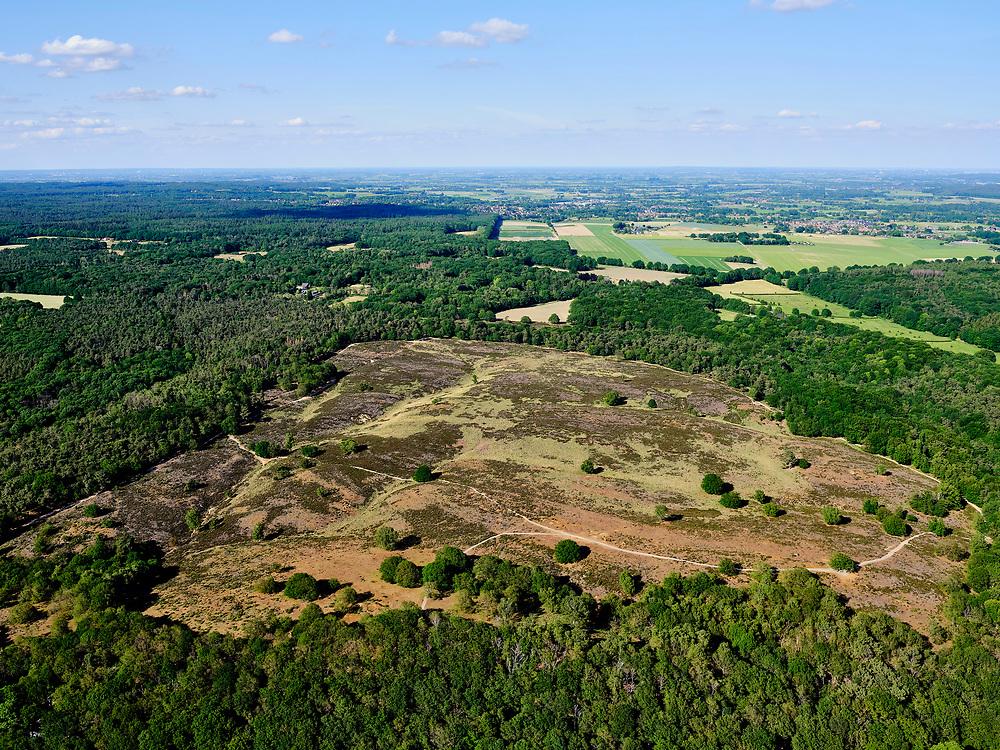 Nederland, Limburg, GemeenteMook en Middelaar; 27-05-2020; MookerheideofMookerhei, bos- en heidegebied.<br /> Mookerheide or Mookerhei, forest and heathland.<br /> <br /> luchtfoto (toeslag op standaard tarieven);<br /> aerial photo (additional fee required)<br /> copyright © 2020 foto/photo Siebe Swart