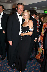 TV presenter MARIELLA FROSTRUP and her husband JASON McCUE at the 2004 Whitbread Book Awards held at The Brewery, Chiswell Street, London EC1 on 25th January 2005.<br /><br /><br />NON EXCLUSIVE - WORLD RIGHTS