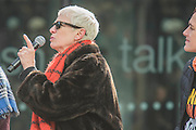 Annie Lennox - 'Walk in Her Shoes' a mother's day march in solidarity with women and girls around the world and in advance of International Womens Day this week - CARE International's Walk In Her Shoes event led by Helen Pankhurst, her 21-year old daughter Laura Pankhurst, music legend Annie Lennox, Bianca Jagger, comedian Bridget Christie, Secretary of State for International Development Justine Greening, London Mayoral candidates Sadiq Khan and Sophie Walker and a group of 'Olympic Suffragettes' in Edwardian clothing with banners. They were also joined by Sister Sledge.