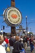 Tourists at Fisherman's Wharf, San Francisco, California