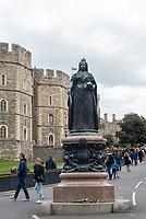 Windsor Castle after The Duke of Edinburgh died, aged 99, Windsor Castle, Windsor, Berkshire, UK.photo by mark anton smith