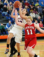 Chester's Simone Ayers (23) takes a shot against Tuxedo during the Section 9 Class C girls' basketball championship game at SUNY New Paltz on Friday, March 1, 2013.