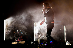 Samuel T. Herring of Future Islands during the Glastonbury Festival at Worthy Farm in Pilton, Somerset. Picture date: Friday June 23rd, 2017. Photo credit should read: Matt Crossick/ EMPICS Entertainment.