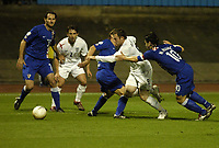 "Photo: Richard Lane.<br />Croatia v England. UEFA European Championships 2008 Qualifying. 11/10/2006. <br />England""s Wayne Rooney attacks the Croatian defence."