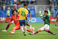 July 2, 2018 - Samara, Vazio, Russia - Neymar da Silva Santos Jr. during a match between Brazil and Mexico valid for the eighth round of World Cup 2018 finals, held at Arena Samara, Russia. Brazil won 2-0. (Credit Image: © Thiago Bernardes/Pacific Press via ZUMA Wire)