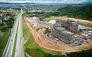Belo Horizonte_MG, Brasil...Imagem aerea da construcao do Centro Administrativo do Governo de Minas Gerais (Cidade Administrativa), o centro foi projetado por Oscar Niemeyer...The aerial view from the construction of the Minas Gerais Administrative Center (Administrative City), projected by Oscar Niemeyer...Foto: BRUNO MAGALHAES / NITRO