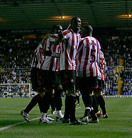 Photo: Steve Bond.<br />Birmingham City v Sunderland. The FA Barclays Premiership. 15/08/2007. Stern John celebrates his last minute equaliser