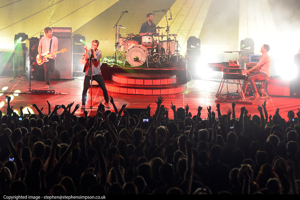 © Licensed to London News Pictures. 25/08/2013. London, UK. Keane perform. The English Heritage concert season returns to Kenwood House in Hampstead, London, with  Live by the Lake. The season includes Suede, a Choral Greats concert, Keane, an outdoor live screening of Singin' in the Rain featuring the Royal Philharmonic Concert Orchestra, Opera Alfresco and an evening of Gershwin. . Photo credit : Stephen Simpson/LNP