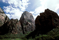 UT: Utah; Zion National Park, Great White Throne  .Photo Copyright: Lee Foster, lee@fostertravel.com, www.fostertravel.com, (510) 549-2202.Image: utzion201