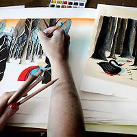 Nederland, Amsterdam , 26 juni 2011..Tekeningen van illustrator van kinderboeken Noelle Smit..Drawings of children's book illustrator Noelle Smit.