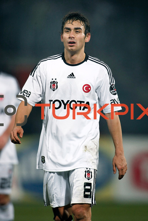 Besiktas's Veli Kavlak during their Turkish Superleague soccer match Ankaragucu between Besiktas at the 19 Mayis stadium in Ankara Turkey on Sunday 08 January 2012. Photo by TURKPIX