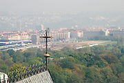 Czech Republic, Prague misty cityscape