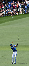April 8, 2017 - Augusta, Georgia, U.S. - JORDAN SPIETH hits onto the 2nd green during the third round of the Masters Tournament at Augusta National Golf Club. (Credit Image: © Jeff Siner/TNS via ZUMA Wire)