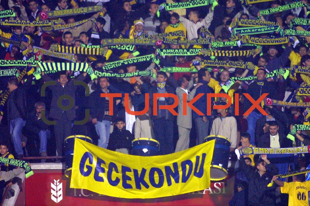 Turkish Soccer...<br /> Turkish soccer team Ankaragucu between Bursaspor. <br /> Bursaspor's during their 19Mayis Stadium in Ankara/Turkey.<br /> Photo by Aykut AKICI/TurkSporFoto