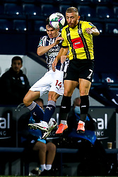 George Thomson of Harrogate Town challenges Conor Townsend of West Bromwich Albion - Mandatory by-line: Robbie Stephenson/JMP - 16/09/2020 - FOOTBALL - The Hawthorns - West Bromwich, England - West Bromwich Albion v Harrogate Town - Carabao Cup