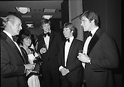 Bank of Ireland GAA Allstars.    (N5)..1979..07.12.1979..12.07.1979..7th December 1979..The 1979 Bank of Ireland GAA Allstars received their trophies from An Taoiseach, Mr Jack Lynch TD,at a banquet in Jury's Hotel,Dublin..Image shows An Taoiseach,Mr Jack Lynch TD,chatting with some of the award winners before the presentation.(L-R) Martin O'Doherty, Cork, Dermot McCurtain, Cork and Tommy Drumm, Dublin.Also included is Enda Ní Mhurchú, Dublin.