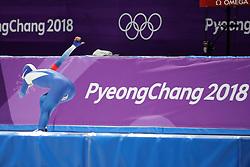 February 18, 2018 - Gangneung, South Korea -  LEE SANG-HWA of Korea during Speed Skating: Ladies' 500m at Gangneung Oval at the 2018 Pyeongchang Winter Olympic Games. (Credit Image: © Scott Mc Kiernan via ZUMA Wire)