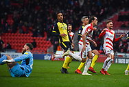 John Marquis of Doncaster Rovers (9) scores a goal to make the score 3-0 during the EFL Sky Bet League 1 match between Doncaster Rovers and Scunthorpe United at the Keepmoat Stadium, Doncaster, England on 15 December 2018.