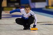"Glasgow. SCOTLAND. CZE'S, Alzbete BAUDYSOVA, ""Round Robin"" Games. Le Gruyère European Curling Championships. 2016 Venue, Braehead  Scotland<br /> Monday  21/11/2016<br /> <br /> [Mandatory Credit; Peter Spurrier/Intersport-images]"
