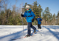 Mason Pappaceno and Kenny Fontaine with the Alton Central School make some laps at Gunstock's Nordic Center on Thursday afternoon.  (Karen Bobotas/for the Laconia Daily Sun)