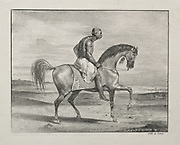 African on Horseback 1823 lithography by Eugène Delacroix (French, 1798-1863)