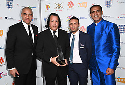 Rashid Abba wins the FA Recognition Award at the third Lycamobile British Ethnic Diversity Sports Awards BEDSAs, held at the Park Lane Hilton Hotel, London