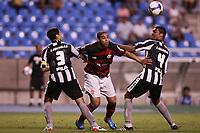 20091025: RIO DE JANEIRO, BRAZIL - Botafogo vs Flamengo: Brazilian League 2009. In picture: Juninho (Botafogo, L), Adriano (Flamengo, C) and Wellington (Botafogo, R). PHOTO: CITYFILES