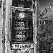 Abandoned Premium Gasoline Pump - Eldorado Canyon - Nelson NV - HDR -  Infrared Black & White