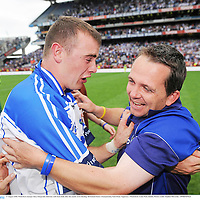 17 August 2008; Waterford manager Davy Fitzgerald celebrates with Eoin Kelly after the match. GAA Hurling All-Ireland Senior Championship Semi-Final, Tipperary v Waterford, Croke Park, Dublin. Picture credit: Stephen McCarthy / SPORTSFILE
