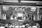 """""""Miss Elida"""" Final At Mosney, Co Meath..1976..01.09.1976..09.01.1976..1st September 1976..The final of the """"Miss Elida"""" lovely hair competition was held in The Gaiety Theatre,Butlins Holiday Centre,Mosney,Co Meath tonight. The competition is sponsored by Lever Bros,Sheriff St,Dublin. The shows compere was Mr Mike Murphy..Image shows the contestants taking their place on the stage of the Gaiety Theatre..Image shows the contestants taking their place on the stage of the Gaiety Theatre."""