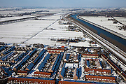 Nederland, Utrecht, Gemeente Maarsen 31-01-2010; Polder Nijenrode, Maarssenbroek ingeklemd tussen A2 en Amsterdam-Rijnkanaal, winterlandschap;.Maarssenbroek wedged between A2 and Amsterdam-Rhine Canal, winter landscape;.luchtfoto (toeslag), aerial photo (additional fee required).foto/photo Siebe Swart