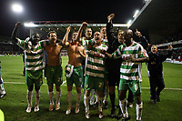 Photo: Rich Eaton.<br /> <br /> Nottingham Forest v Yeovil Town. Coca Cola League 1. Play off Semi Final 2nd Leg. 18/05/2007. Yeovil players celebrate their 5-2 victory over Forest