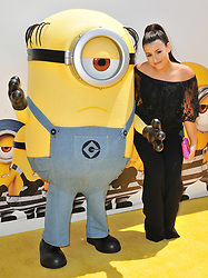 """Dana Gaier arrives at the """"Despicable Me 3"""" Los Angeles Premiere held at the Shrine Auditorium in Los Angeles, CA on Saturday, June 24, 2017.  (Photo By Sthanlee B. Mirador) *** Please Use Credit from Credit Field ***"""