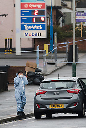 © Licensed to London News Pictures. 09/04/2018. London, UK. Police and forensic officers at the scene in Collier Row, Romford where at 4:45hrs a man was shot by police and pronounced dead at the scene. Photo credit: Vickie Flores/LNP