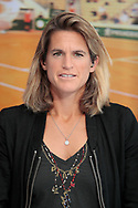 Amelie Mauresmo (tennis consultant for France Television Group), live on the set of the TV program during the Roland Garros 2020, Grand Slam tennis tournament, on October 2, 2020 at Roland Garros stadium in Paris, France - Photo Stephane Allaman / ProSportsImages / DPPI