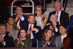 Prince Harry sat next to Melania Trump  along with Canada Govenor-General David Johnston, and Prime Minister of Canada, Justin Trudeau during  the 2017 Invictus Games Opening Ceremony at the Air Canada Centre in Toronto, Canada on September 23, 2017. (Photo by Dominic Chan/Sipa USA)
