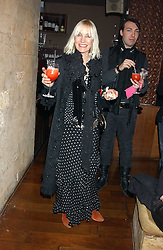 VIRGINIA BATES at a party hosted by Daniella Helayel of fashion label ISSA held at Taman Gang, 141 Park Lane, London on 15th February 2006.<br /><br />NON EXCLUSIVE - WORLD RIGHTS