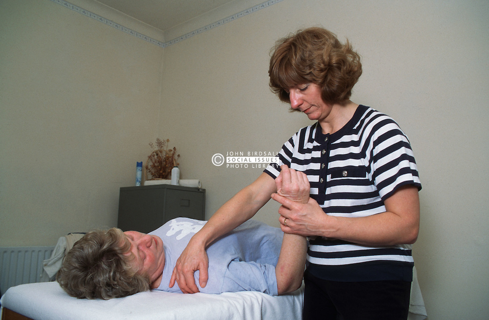 Physiotherapy session for repetitive strain injury,