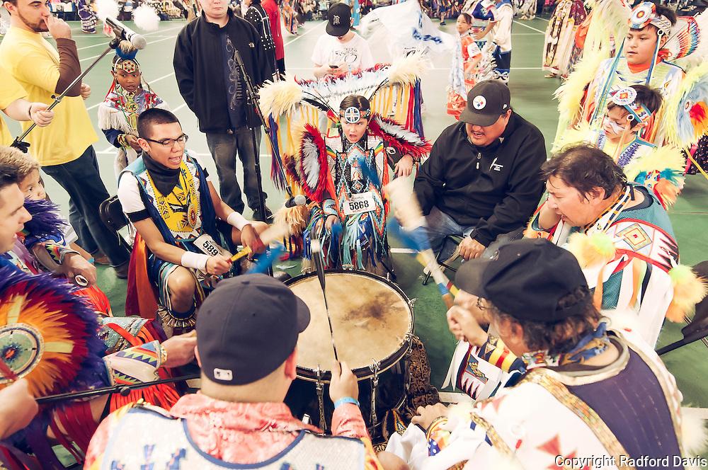Powwow drummer