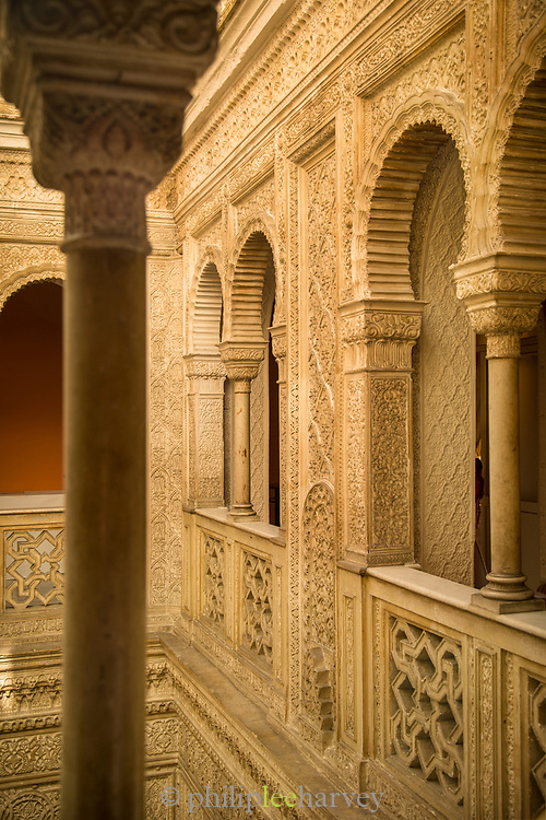 Arches in Casino Gaditano in Cadiz, Spain