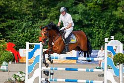 08, Youngster-Springprfg. Kl. M* 6-8j. Pferde,, Ehlersdorf, Reitanlage Jörg Naeve, 15. - 18.07.2021, Thomas Voss (GER), Calciano,