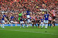 Samuel Eto'o of Everton heads clear - Sunderland vs. Everton - Barclay's Premier League - Stadium of Light - Sunderland - 09/11/2014 Pic Philip Oldham/Sportimage
